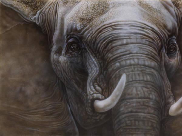 North Dakota Painting - African Elephant by Wayne Pruse