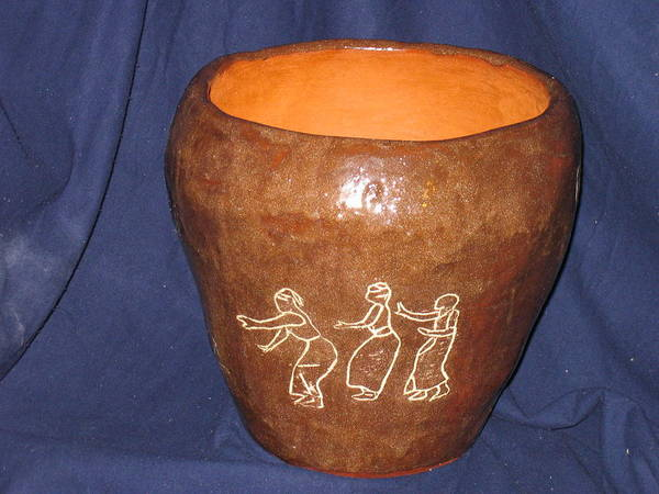 Ceramic Art - African Ladies Lead The Dance - View One by Gloria Ssali