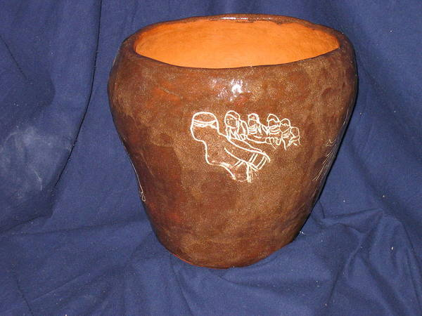 Ceramic Art - African Ladies Lead The Dance - View Two by Gloria Ssali