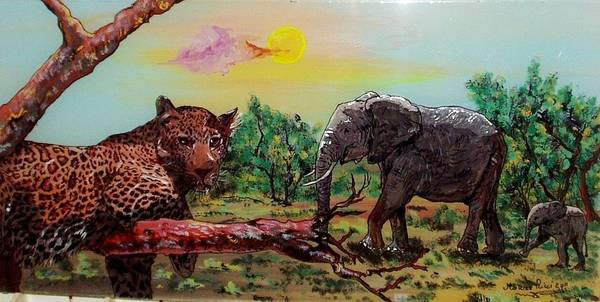 Wall Art - Painting - African Landscape by Mauro Ricci