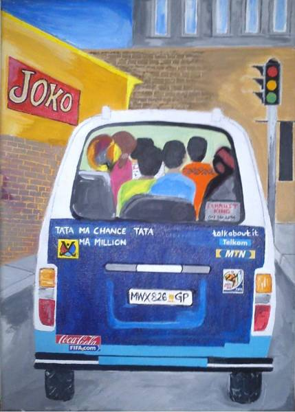 2010 Fifa World Cup Wall Art - Painting - African Life by Ridwaan Cassim