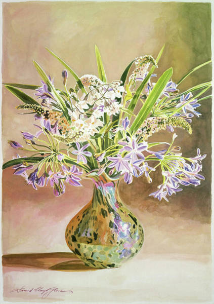 Painting - African Lilies Arrangement by David Lloyd Glover