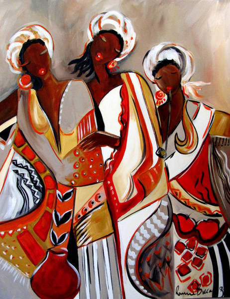 Mama Africa Wall Art - Painting - African Maidens by Ronnie Biccard