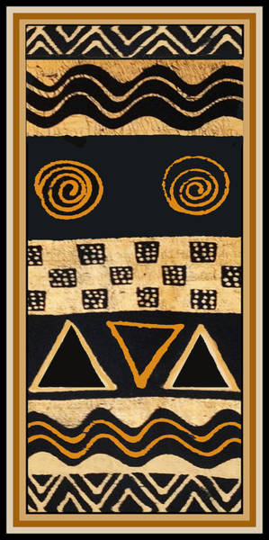 African Tribal Digital Art - African Primordial Spirits - 2 by Vagabond Folk Art - Virginia Vivier