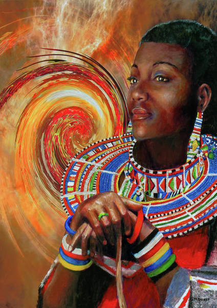 Kenya Mixed Media - African Spirit Quest by Michael Durst