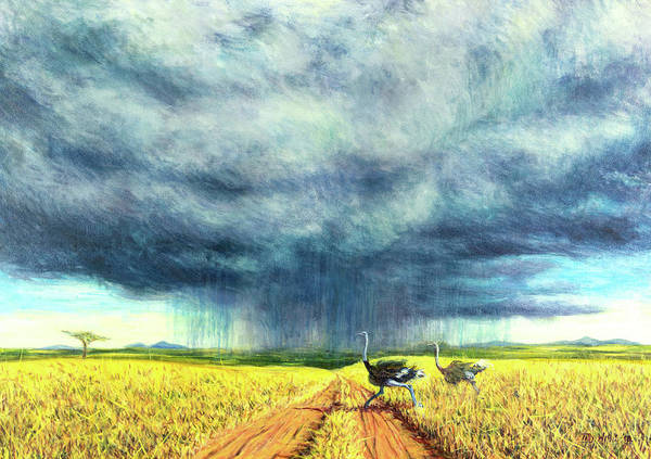 Wall Art - Painting - African Storm by Tilly Willis