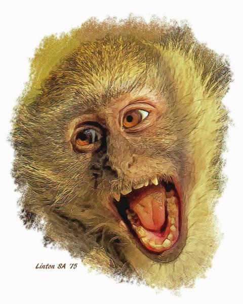 Digital Art - African Vervet Monkey by Larry Linton