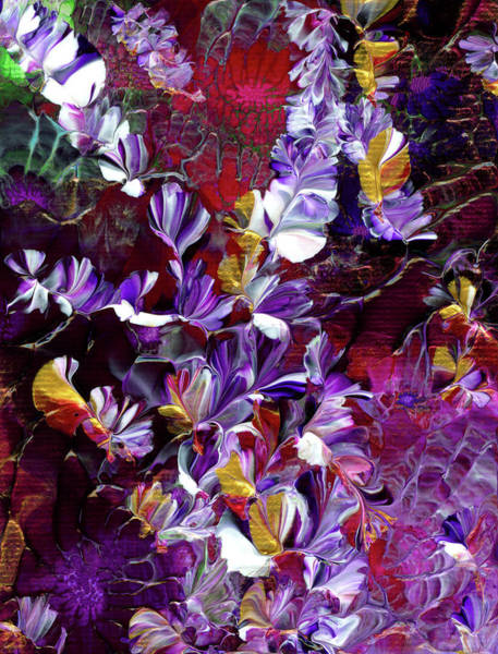 Painting - African Violet Awake #4 by Nan Bilden