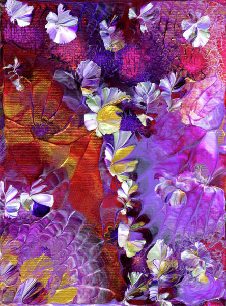 Painting - African Violet Awake #5 by Nan Bilden