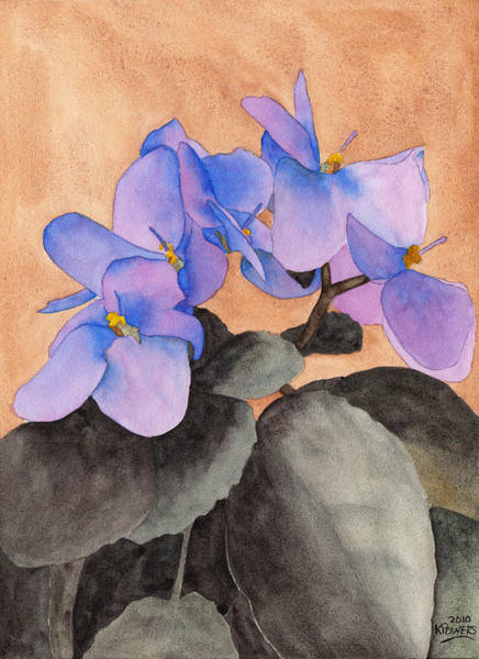 Painting - African Violet by Ken Powers
