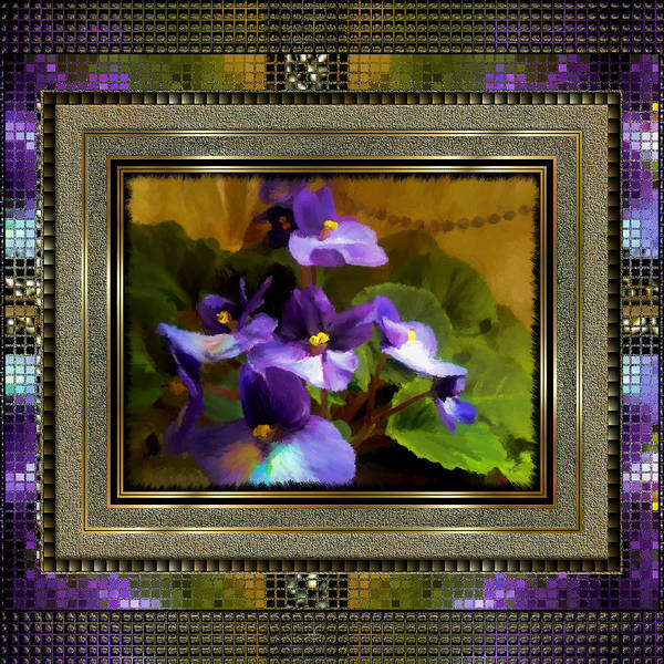 Painting - African Violet by Susan Kinney