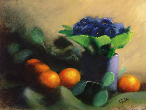 Wall Art - Painting - African Violets by Christy Olsen