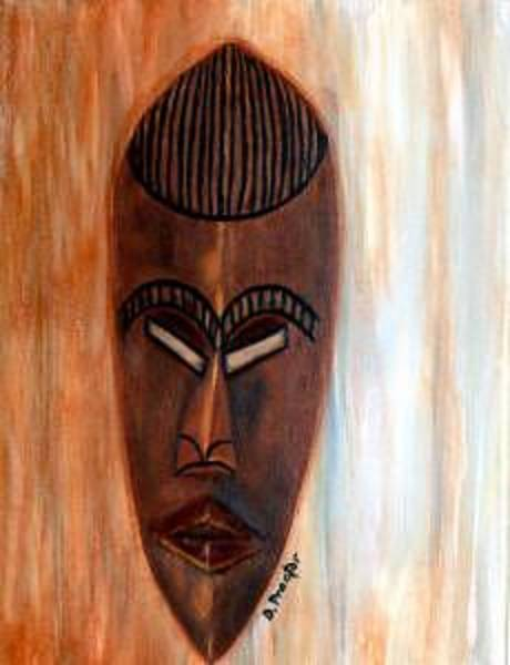 Painting - African Warrior by Donna Proctor