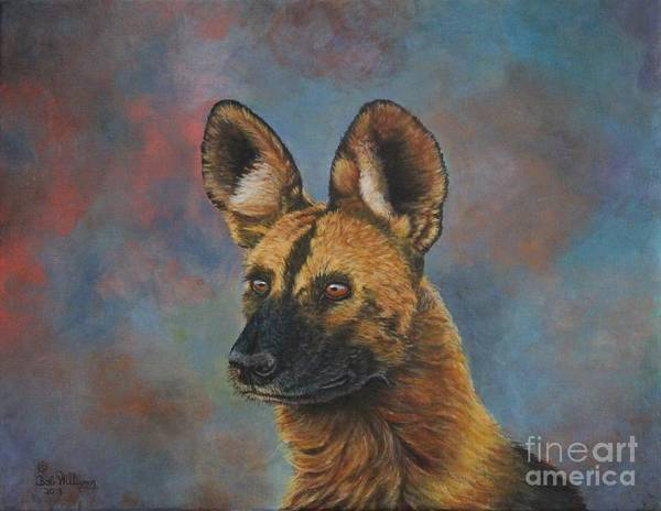Painting - African Painted Wild Dog by Bob Williams