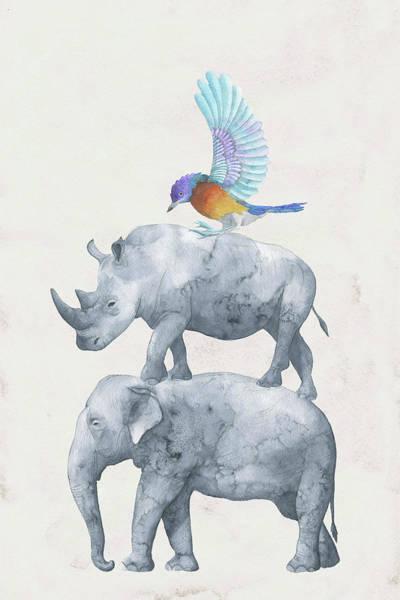 Painting - African Wildlife by Maria Heyens