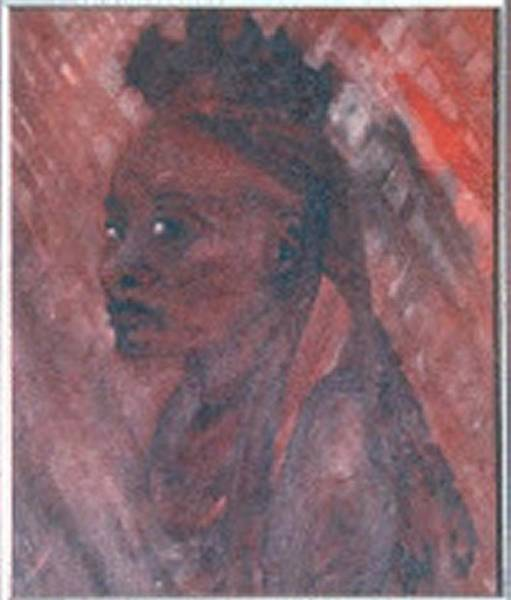 Painting - African Woman Portrait - Oil Painting by Julia Woodman