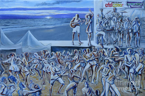 Musical Theme Painting - Africana Funk Fest   by Toni  Thorne