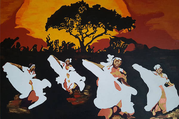 Painting - Afro Carib Dance by Rachel Natalie Rawlins