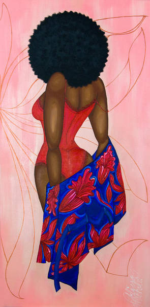 Painting - Afro-disiac by Aliya Michelle