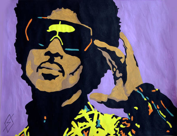 Prince Rogers Nelson Wall Art - Painting - Afro Prince by Stormm Bradshaw