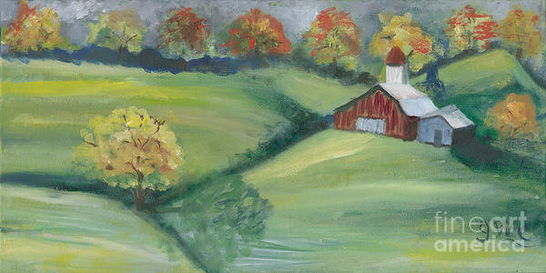 Wall Art - Painting - After A Fall Shower by Gloria Condon