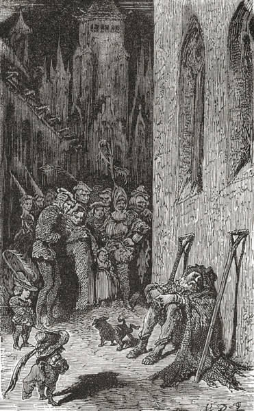 Dor Drawing - After A Work By Gustave Dore For Balzac by Vintage Design Pics