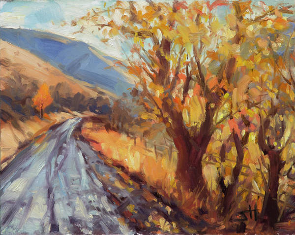 Wall Art - Painting - After An Autumn Rain by Steve Henderson