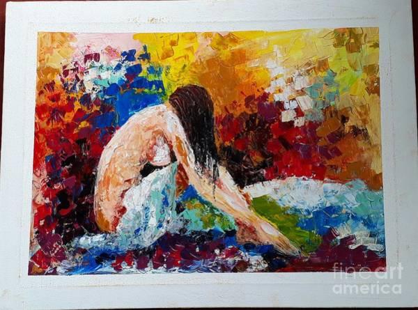 Wall Art - Painting - After Bathing by Sudumenike Wijesooriya