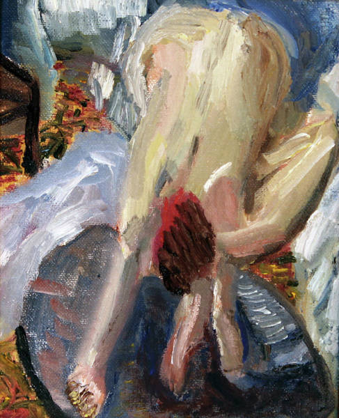 Painting - After Degas The Bath I by Michael Helfen