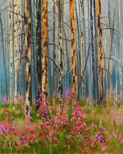 Painting - After Forest Fire by E Colin Williams ARCA