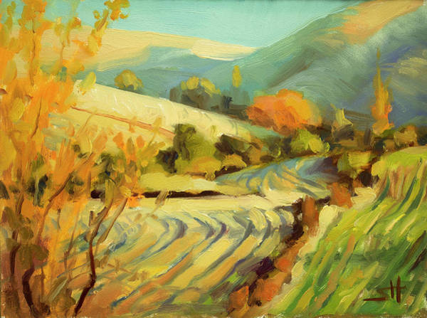 Brush Stroke Wall Art - Painting - After Harvest by Steve Henderson