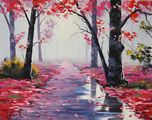 Leaf Painting - After Rain by Graham Gercken