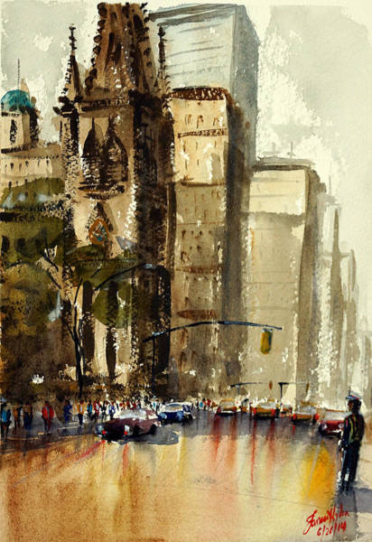 Wall Art - Painting - After Shower, New York by James Nyika