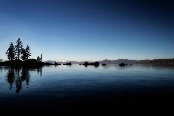 Photograph - After Sun Sets At Lake Tahoe With Snow In The Mountains by Dan Friend