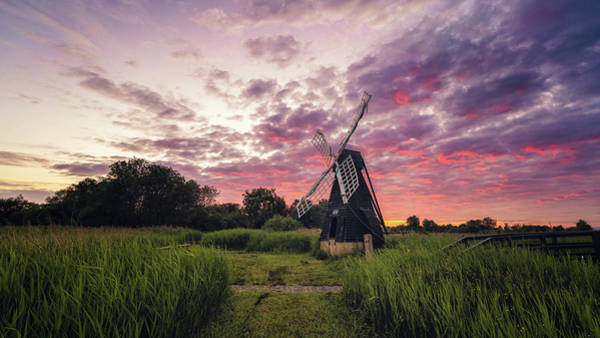 Photograph - After Sundown At Wicken by James Billings