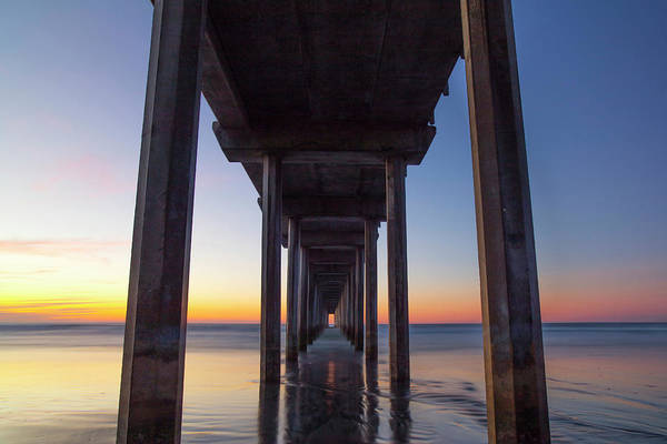 Scripps Pier Photograph - After Sunset At Scripps Pier by Michael Sangiolo