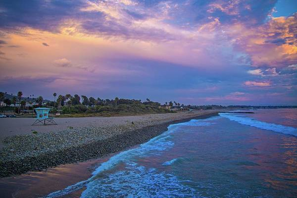Photograph - After Sunset Glow On The Ventura Coast by Lynn Bauer