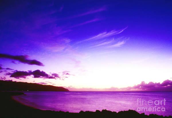 Kaena Photograph - After Sunset North Shore by Thomas R Fletcher