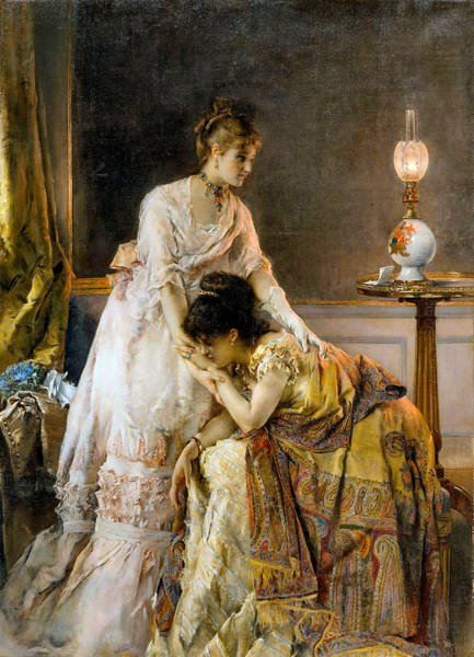 Photograph - After The Ball by Alfred Stevens
