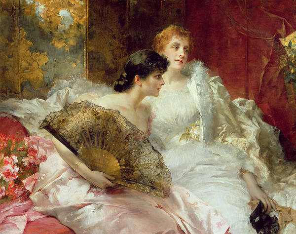 Seat Painting - After The Ball by Conrad Kiesel