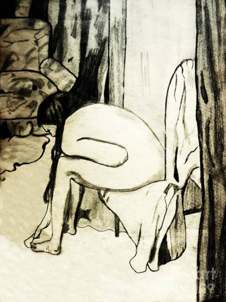 After The Bath Drawing - After The Bath by Jo-Ann Hayden