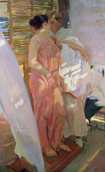 Cane Painting - After The Bath by Joaquin Sorolla y Bastida