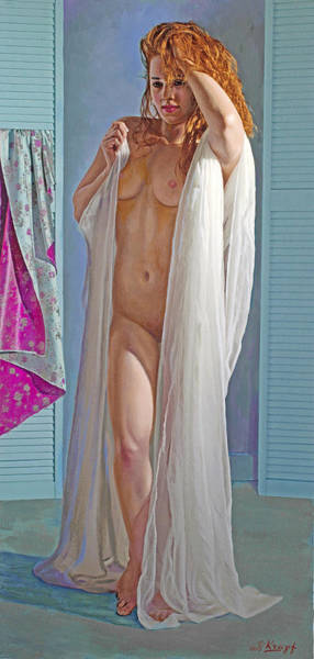 Wall Art - Painting - After The Bath by Paul Krapf