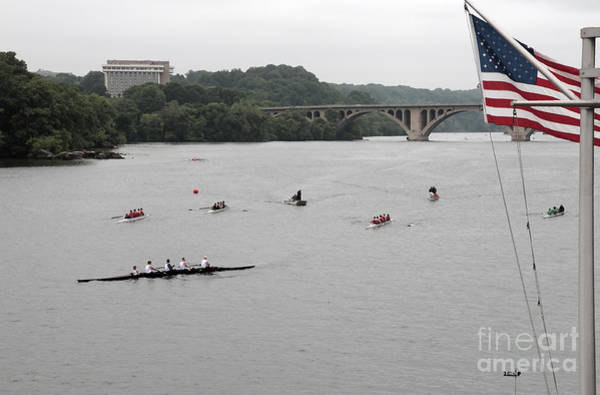 Digital Art - After The Finish At A Rowing Regatta On The Potomac In Georgetown by William Kuta
