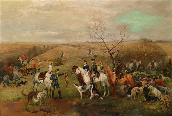 Fausto Zonaro Painting - After The Game by Fausto Zonaro