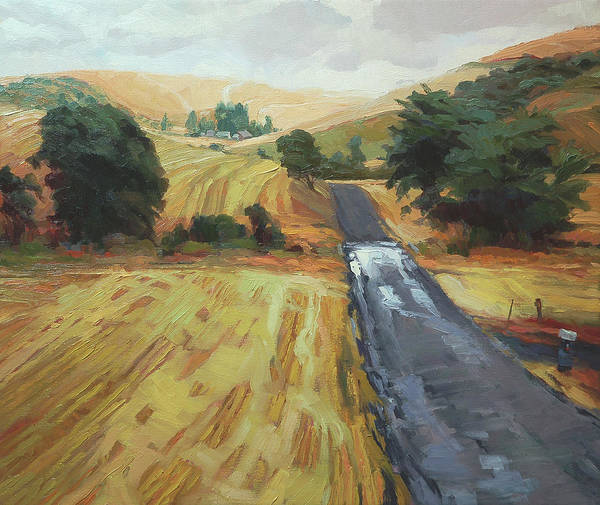 Wheat Wall Art - Painting - After The Harvest Rain by Steve Henderson