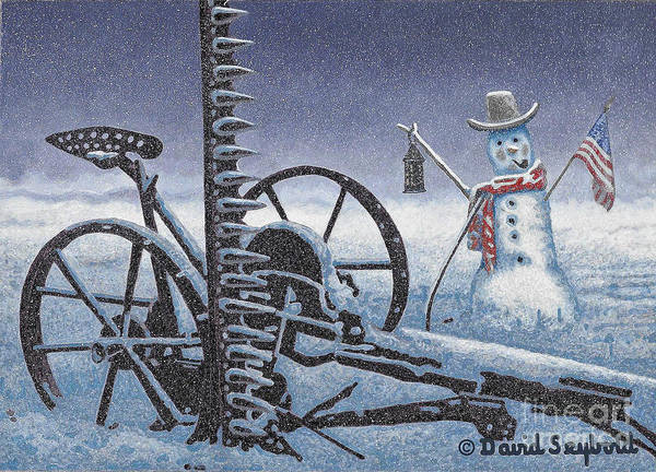 Wall Art - Photograph - After The Harvest Snowman by John Stephens