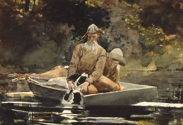 Upstate New York Painting - After The Hunt by Winslow Homer