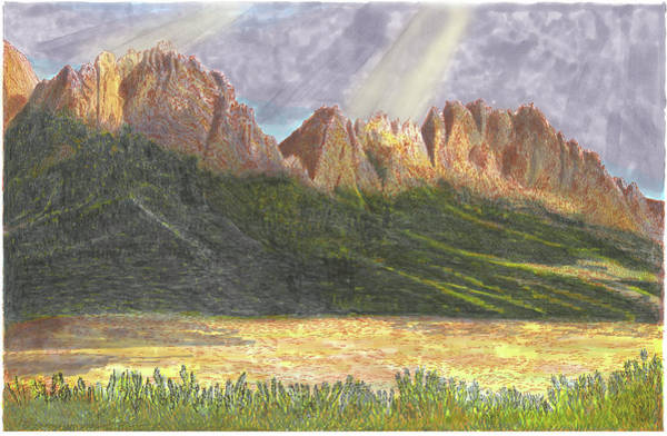 Wall Art - Painting - After The Monsoon Organ Mountains by Jack Pumphrey
