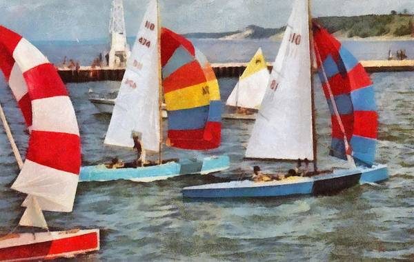 Spinnaker Photograph - After The Regatta  by Michelle Calkins